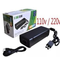 Fonte Para Xbox 360 Super Slim de 1 e 2 Pinos Bivolt 135w Com Cabo