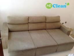 Sofá limpo como novo