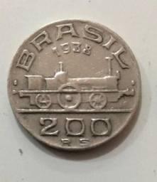 Moeda Antiga Brasileira - 1938 - 200 Reis (ref 708)