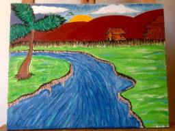 Quadro pintura Rancho Garp