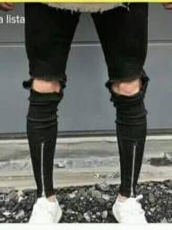 Calça jeans street skynner com zíper ou sem