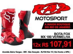 Bota Motocross Fox MX 180 Vermelha