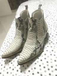 bc78efedcbd Bota botina country masculina couro Anaconda bico fino luxo