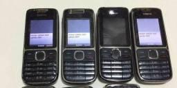 Nokia C2-01 3g 3.2mp Bluetooth Mp3 Fm, Nota fiscal e Garantia, Loja física