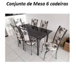 Preço Promocional de Conjunto de Mesa 6 Cadeiras Novo na Caixa Apenas 1089,00