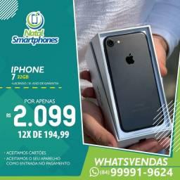 Iphone 7 com 32GB (LACRADO) 4G , PRETO FOSCO ( GARANTIA, 365 DIAS )