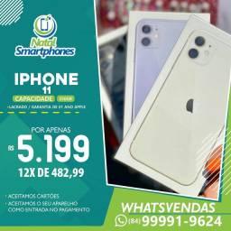 Iphone 11 256GB - LACRADO ( TODAS AS CORES ) 01 ANO DE GARANTIA MUNDIAL APPLE ( ANATEL )