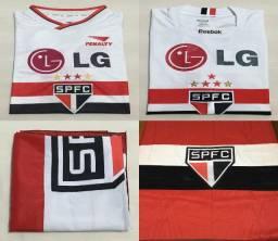 Combo Camisas São Paulo 1 - LG (2001/2009) + Bandeira