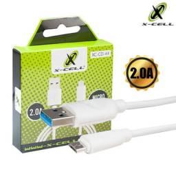 Cabo USB Micro USB/V8 Emborrachado 1m 2.0A X-Cell XC-CD-44