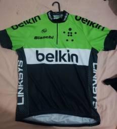 Camisa ciclismo Bianchi tamanho G