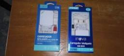Carregadores inova iPhone e tipo C 3A 1.2mt