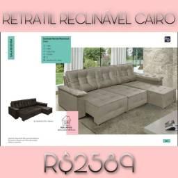Sofá retrátil reclinavel Cairo 2589 Gb h g