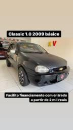 Classic 1.0 2009 básico entrada 2 mil