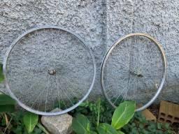 Aro 26 Bike Alumínio Raiado e com Cubo Par