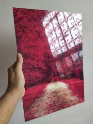 Kit Floresta vermelha 90x42cm MDF
