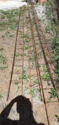 5 Vigas prontas ferro 5/16 estribos de 20 com 6metros .