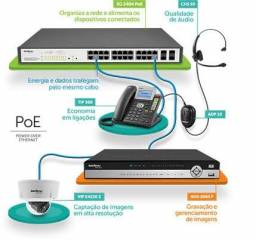 Switch Gerencial POE 24 portas GiGA + 4P MINI-GBIC