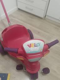 Triciclo velo baby com empurrador