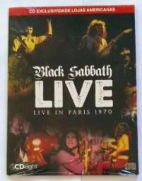 Cd Black Sabbath LIVE IN PARIS 1970.
