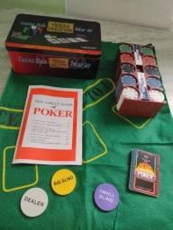 Jogo de poker casino style texas hold'em poker set