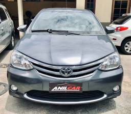 Toyota Etios XLS Sedan 1.5 2015 Cinza Manual Flex + Gnv