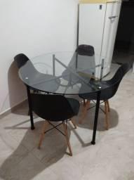 Mesa vidro 4 lugares
