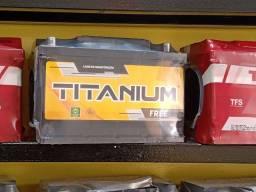 Baterias Titanium 60 ah nova FREE livre de manutenção