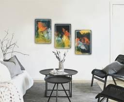 Quadro pintura abstrato