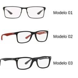 Óculos Armação Rayban Para Grau Importado Acetato Inquebrável