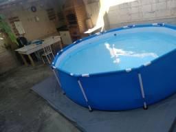 Piscina 5100 litros + filtro de areia + base