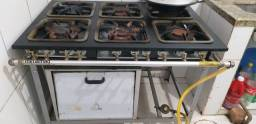 Fogão industrial de 6 bocas com forno