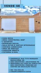 Vende-se casa nova 86m2 - em Arcoverde