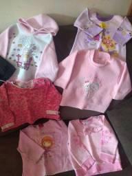 7 blusões menina 1 ano