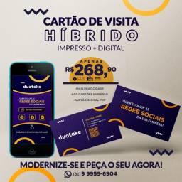 Cartão de Visita Híbrido (Físico + Digital)