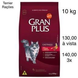 Ração GranPlus CARNE e Arroz Gatos Castrados 10 kg