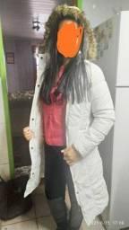 Jaqueta branca tamanho p pequeno