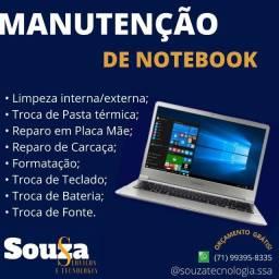 Conserto de notebooks.
