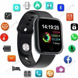 Smartwatch relógio inteligente D20: Preto