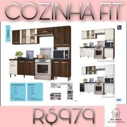 Cozinha fit armário de cozinha 979