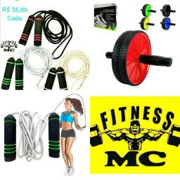 Musculação e ginástica ( Corda para pular e Roda abdominal )  Produtos novos
