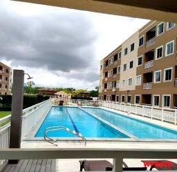 Gran Village Eusébio, Apartamento com 2 quartos, piso porcelanato, móveis fixos