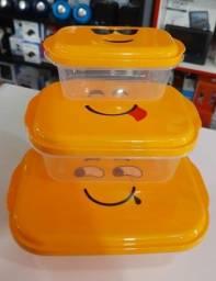 Kit Vasilhas de Plástico Personalizado 50,00