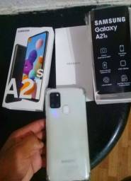 Samsung A21S branco lacrado novo sem marca de uso