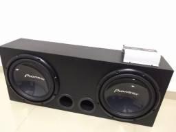 Caixa com 2 Pioneer 400rms + Taramps Md800.1 1ohms