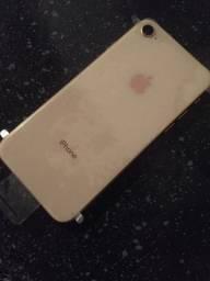 iPhone 8 rosé passo cartão