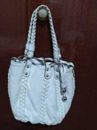 Bolsa em couro branca