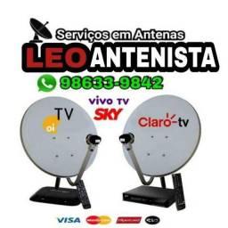 Antena cabos receptor (aceitamos cartões)