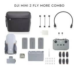 Drone dji mini 2 fly more combo novo lacrado