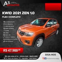 Kwid Zen 1.0 Completo 2021 !!!