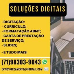 (79) Soluções Digitais: Currículo, Digitação, Atualização Lattes, Formatação docs